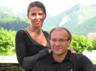 Fignon y su esposa y autora del libro Valèrie
