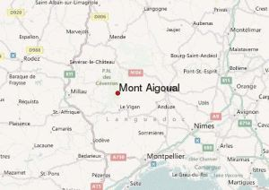 Mapa de localización del Mont Aigoual